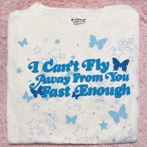 butterfly y2k tshirt